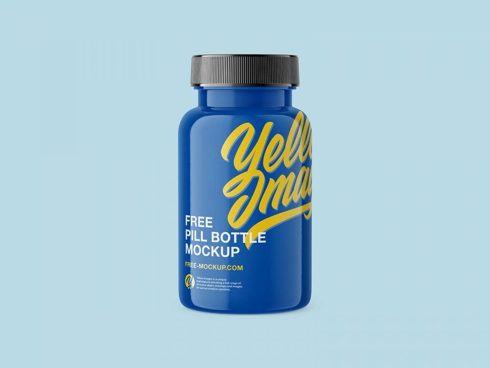 Plastic Pill Bottle Free Mockup