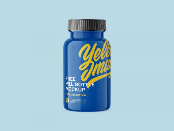 Plastic Pill Bottle Free Mockup