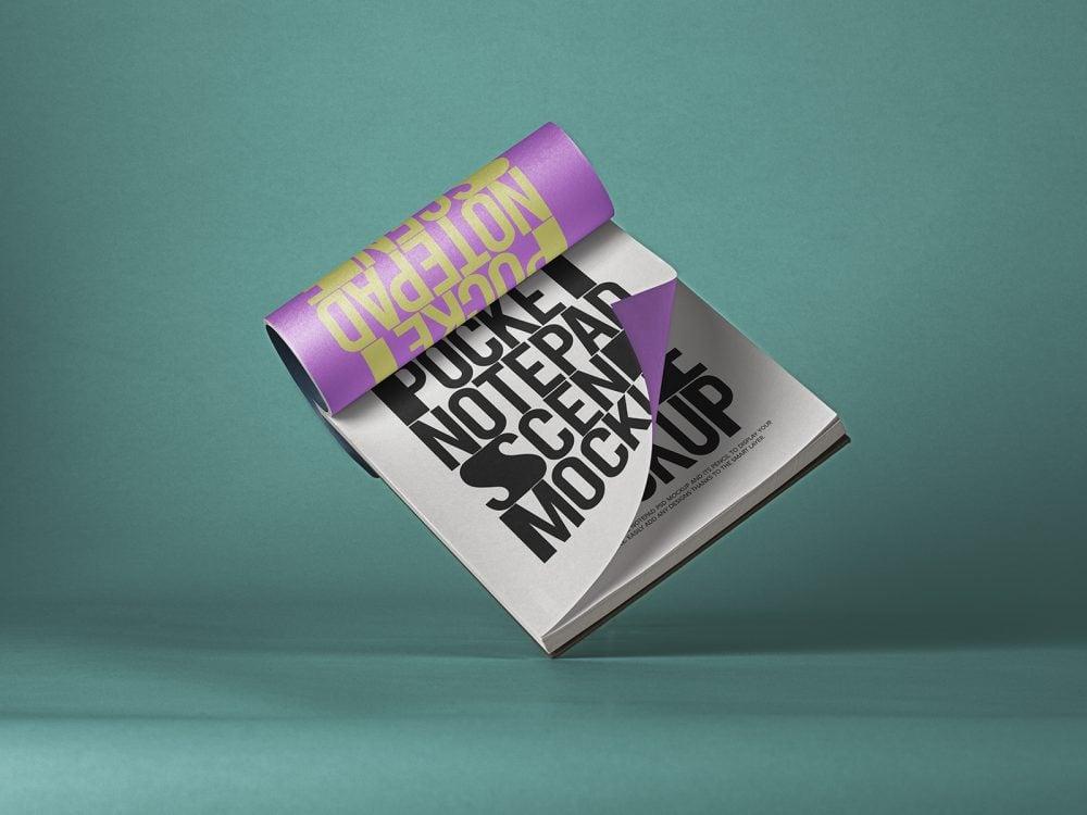 Pocket Notepad Free Mockup PSD