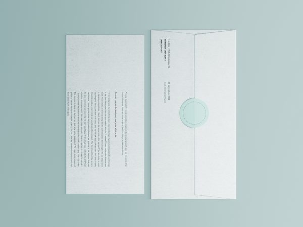 Corporate Envelope and Letter Free Mockup