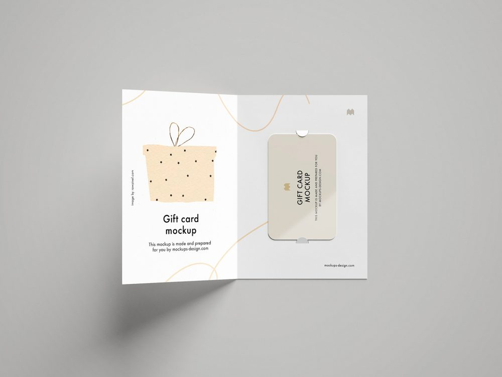 Gift Card Presentation Free Mockup