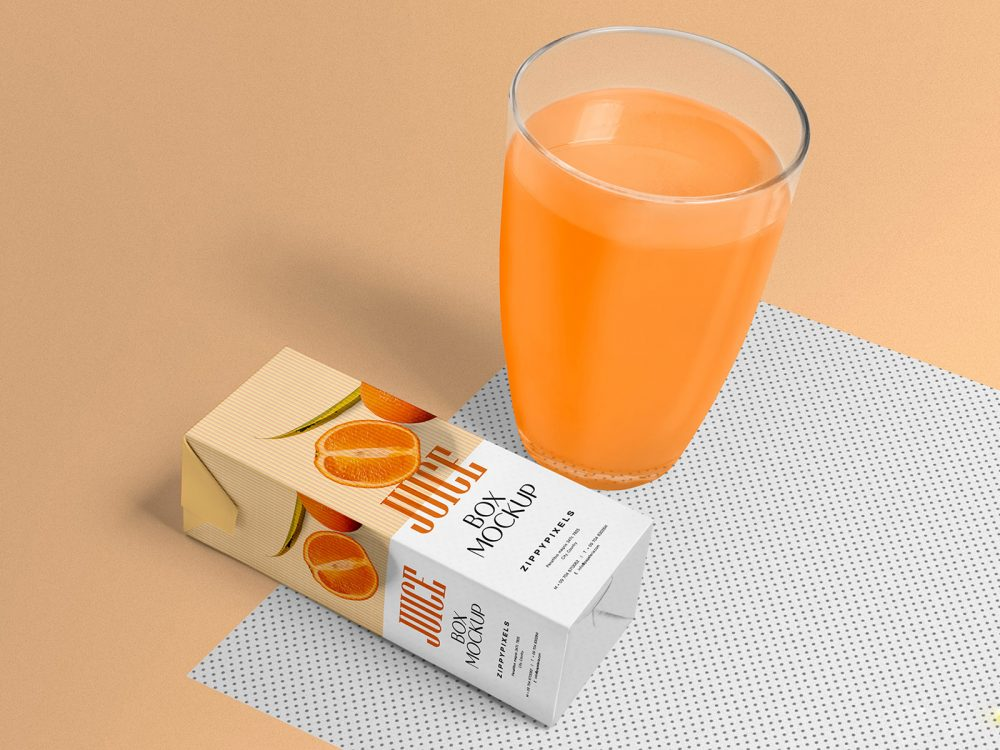 Healthy Juice Box Free Mockup