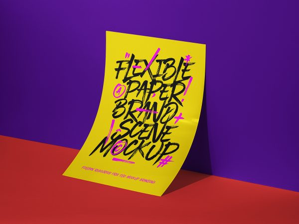 Paper Brand Scene Free Mockup
