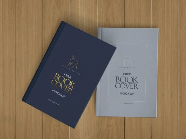 Photorealistic Hardcover Book Free Mockup