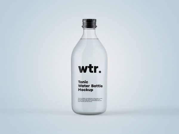 Tonic Bottle Free Mockup