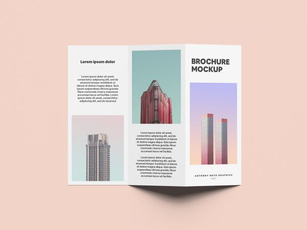 Folded Brochure Free Mockup