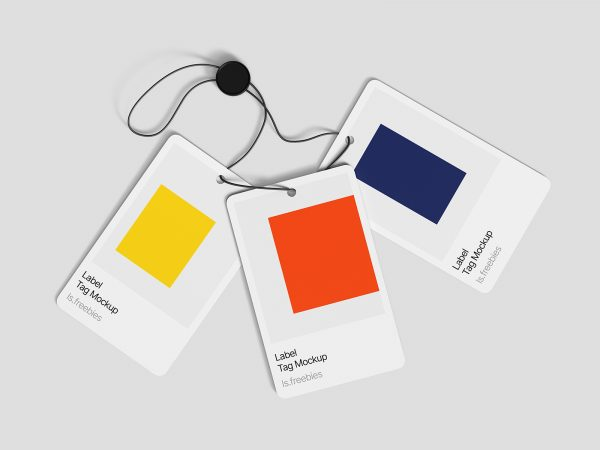 Free 3 Label Tag Mockups