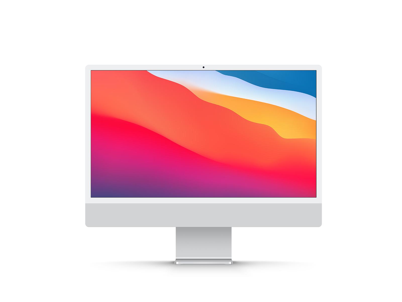 New iMac 24 Inch Display Free Mockup   Free Mockup