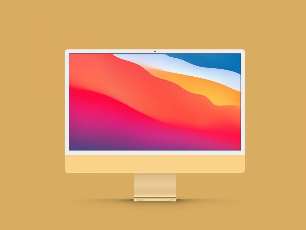 New iMac 24 Inch Display Free Mockup