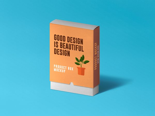 Slide Product Box Free Mockup