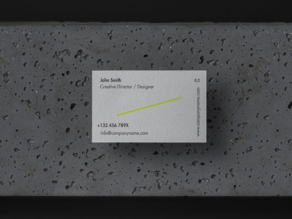 Stone Background Business Card Mockup