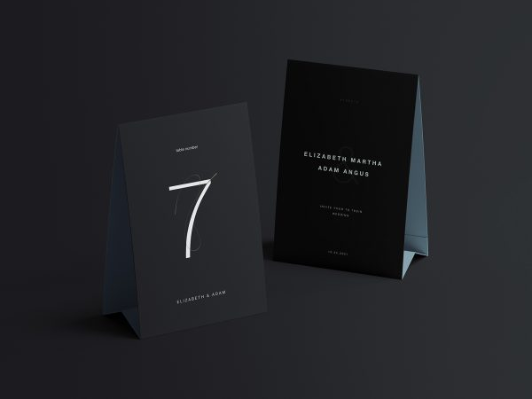 Twin Vertical Table Tents Mockup