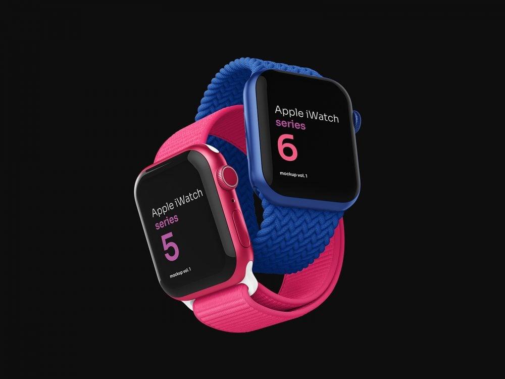Apple Watch Free PSD Mockup