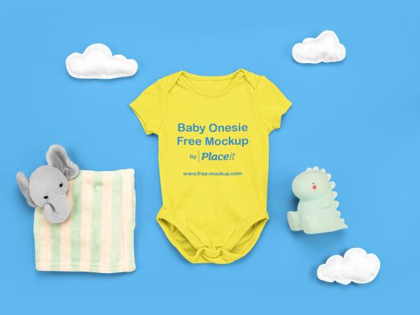 Baby Onesie Placeit Free Online Mockup