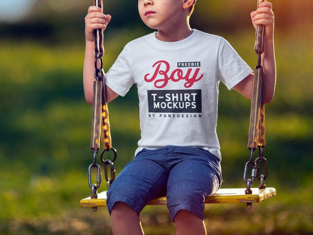 Boy T-Shirt Free Mock-Up