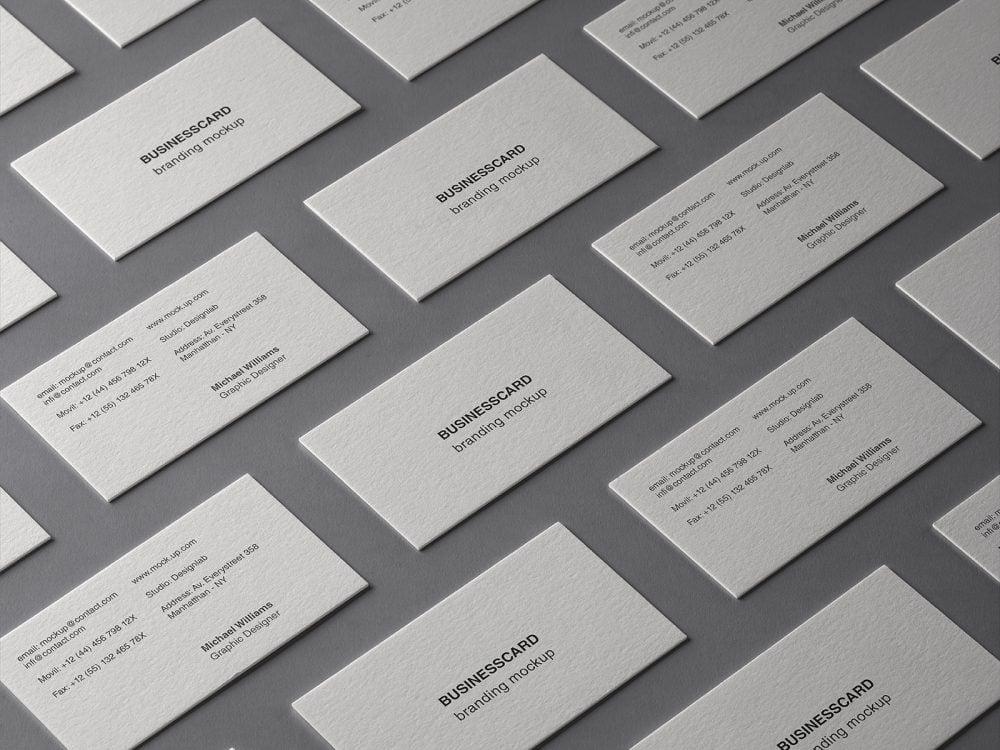 Business Card Grid Branding Free Mockup