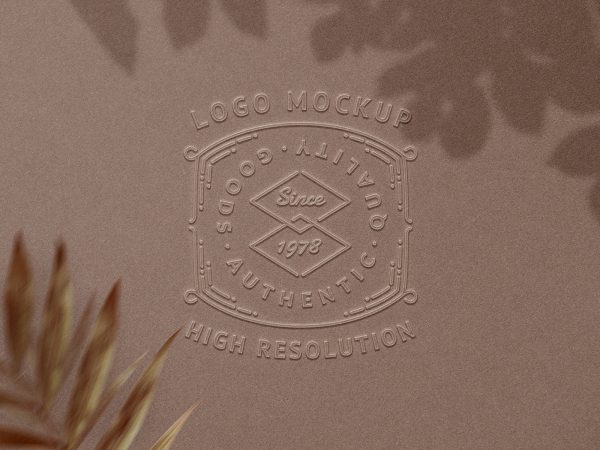 Embossed Logo Free Mockup