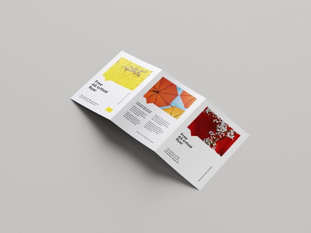 Free A5 Trifold Flyer Design Mockup