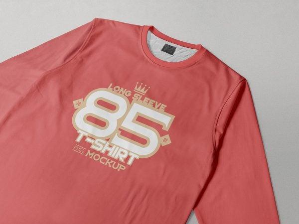 Long Sleeve T-Shirt Free Mockup