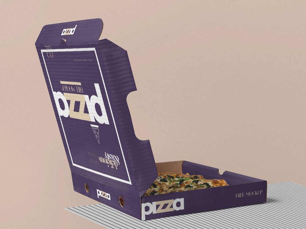 Pizza Box Free Mockup PSD