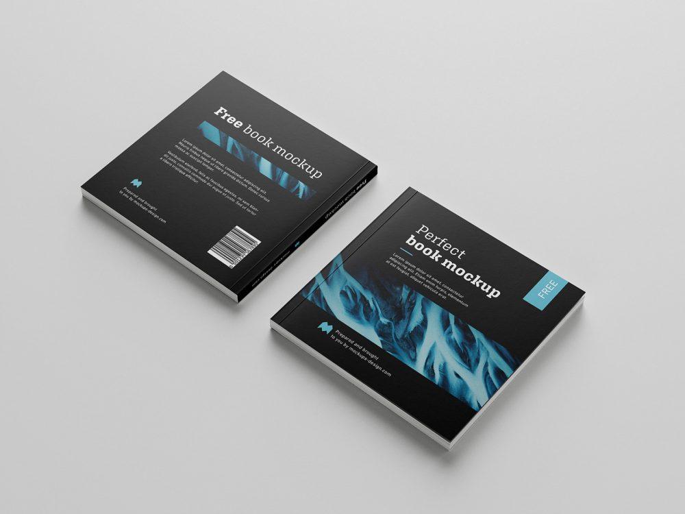 Square Book/Catalog Free Mockup
