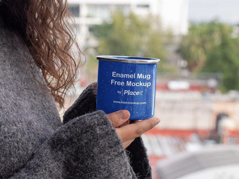12oz Enamel Mug Placeit Free Mockup