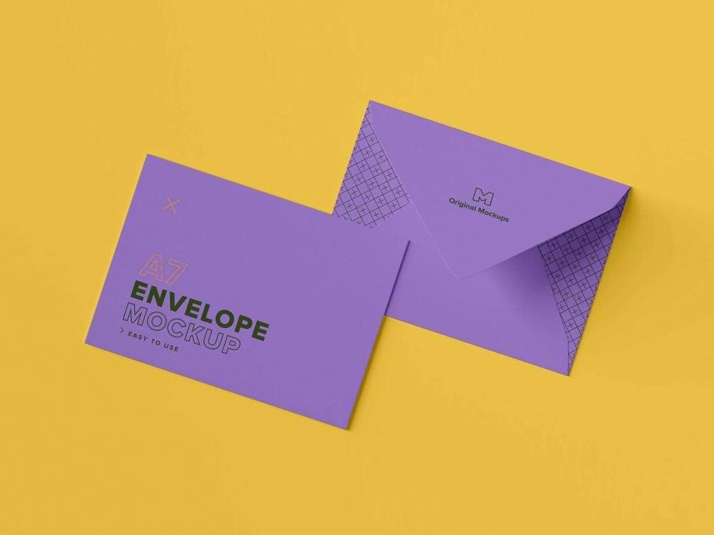 A7 Envelope PSD Mockup