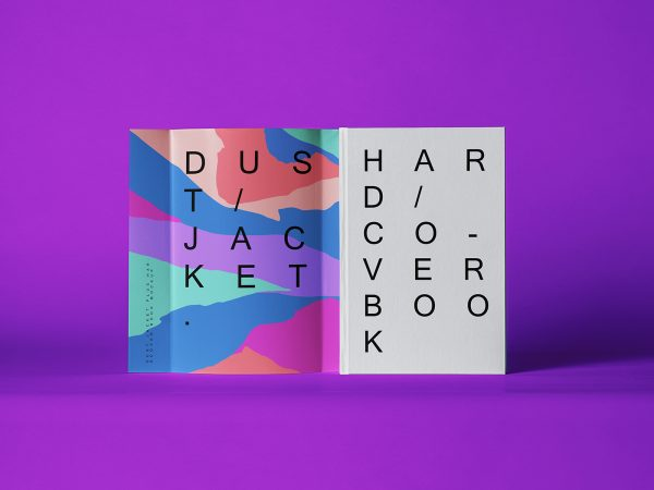 Dust Jacket & Hardcover Book Covers Mockup