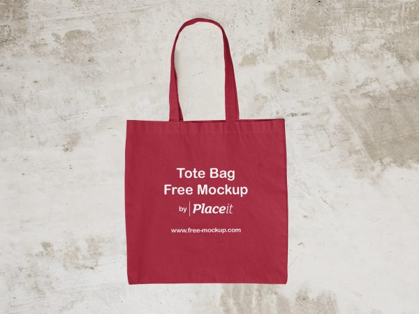 Empty Tote Bag Placeit Free Mockup