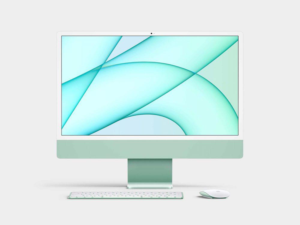 Free 2021 iMac 24inch Mockup