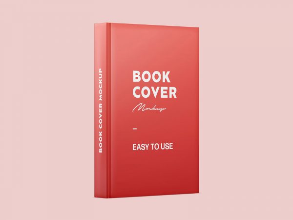 Free Book Spine and Cover Mockup