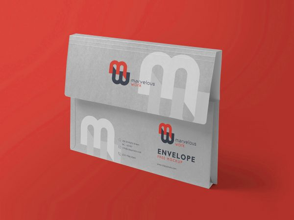 Free Flap Folder Mockup