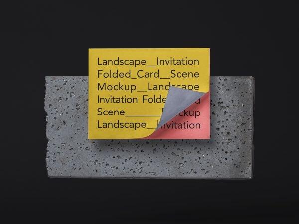 Free Landscape Invitation Card Mockup