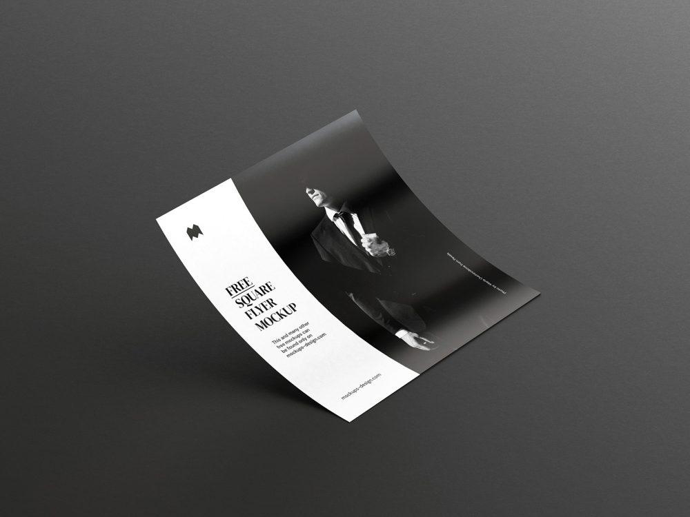Free Single Square Flyer Mockup