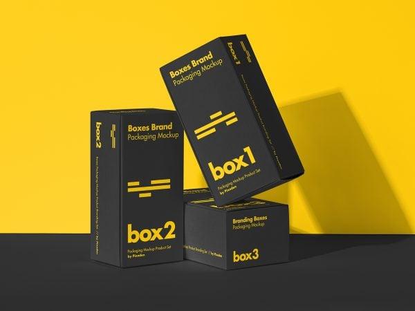 Product Box Packaging Mockup Set