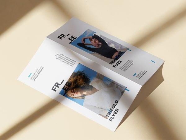Free Bi-Fold DL Flyer Mockup