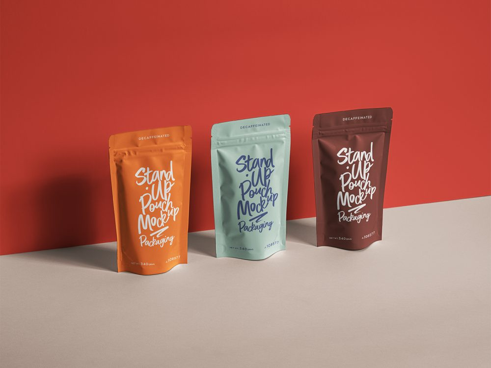 Stand-Up Pouch Packaging Mockup