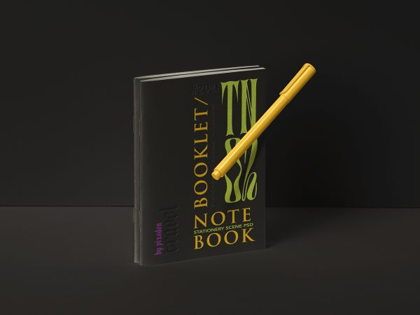 Free Stationery Notebook Mockup Set