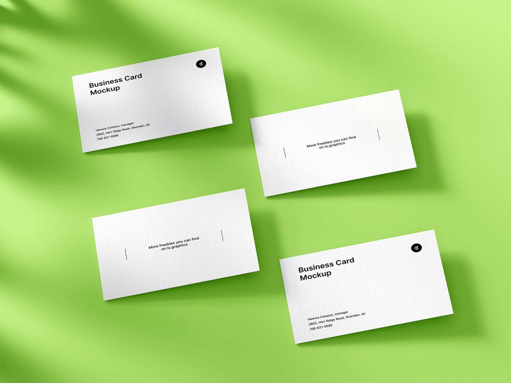 Free Classic Business Cards Mockup