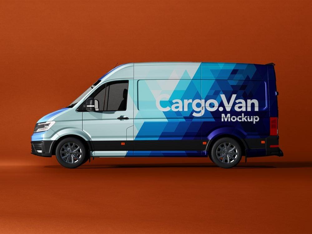 Free Van Wrapping Mockup